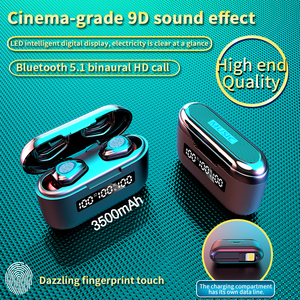 Image 1 - 3500Mah Lade Box G40 TWS Bluetooth V 5,1 Kopfhörer Mini Wireless Kopfhörer Touch 9D Hifi Stereo Sport Dual mic Headset Bass