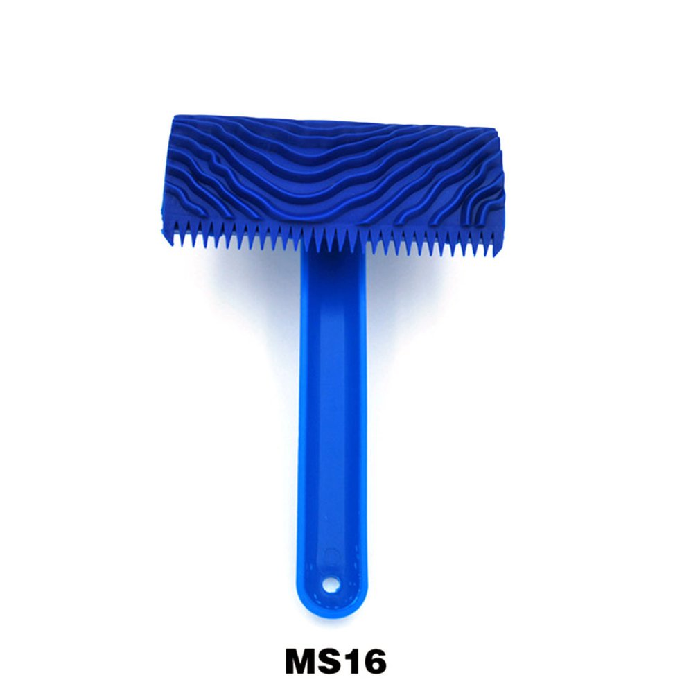 Empaistic Handle Wall Home Tool Graining Durable Diy Rubber Wood Pattern Decoration Imitation Brush Art Painting Roller