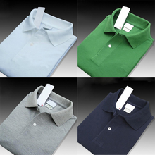 100% algodão dos homens polo camisa de manga curta qualidade superior verão camisas de crocodilo marcas sólido camisa respirável topos t