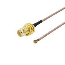 Cabo fêmea da trança do interruptor sma do rf ipx/u fl para o roteador sem fio do cartão de pci wifi antena cabo da trança de wifi ipx à extensão de sma