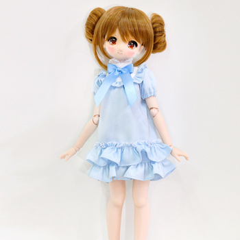 NEW BJD Doll Clothes Blue Cute Dress Bow high neck bubble skirt for 1/3 1/4 DDL MDD MSD Custom Doll Accessories