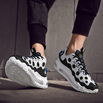 цена Men Sneakers Trainers Sneakers Basket Air Cushion Running Shoes Zapatos De Hombre High Quality Fashion Male Walking Sport Shoes онлайн в 2017 году