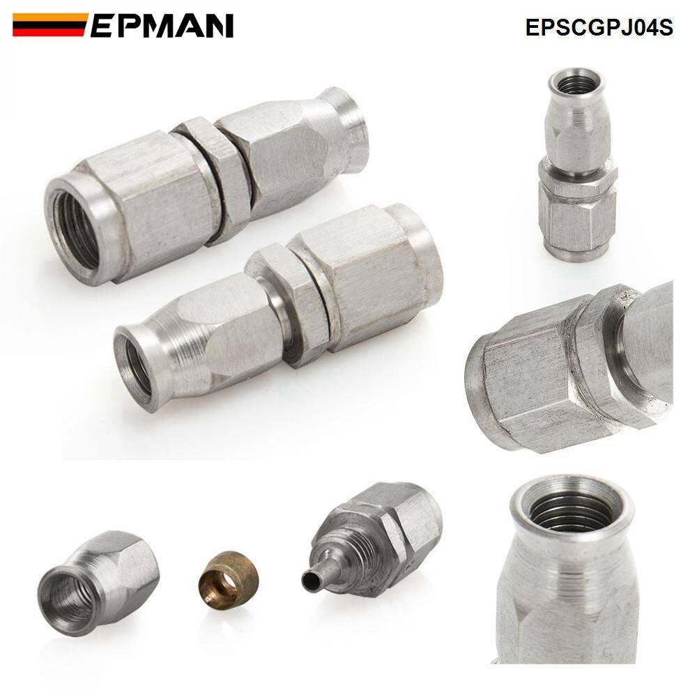 Epman 1 pc an3 de aço inoxidável para um-3 em linha reta freio giratório mangueira termina montagem do carro epscgpj-4