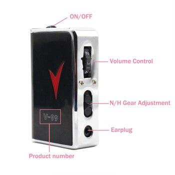 Audífono negro portátil, audífono duradero, tipo de auricular, mejor sonido, amplificador de tono ajustable, cuidado auditivo saludable Digital
