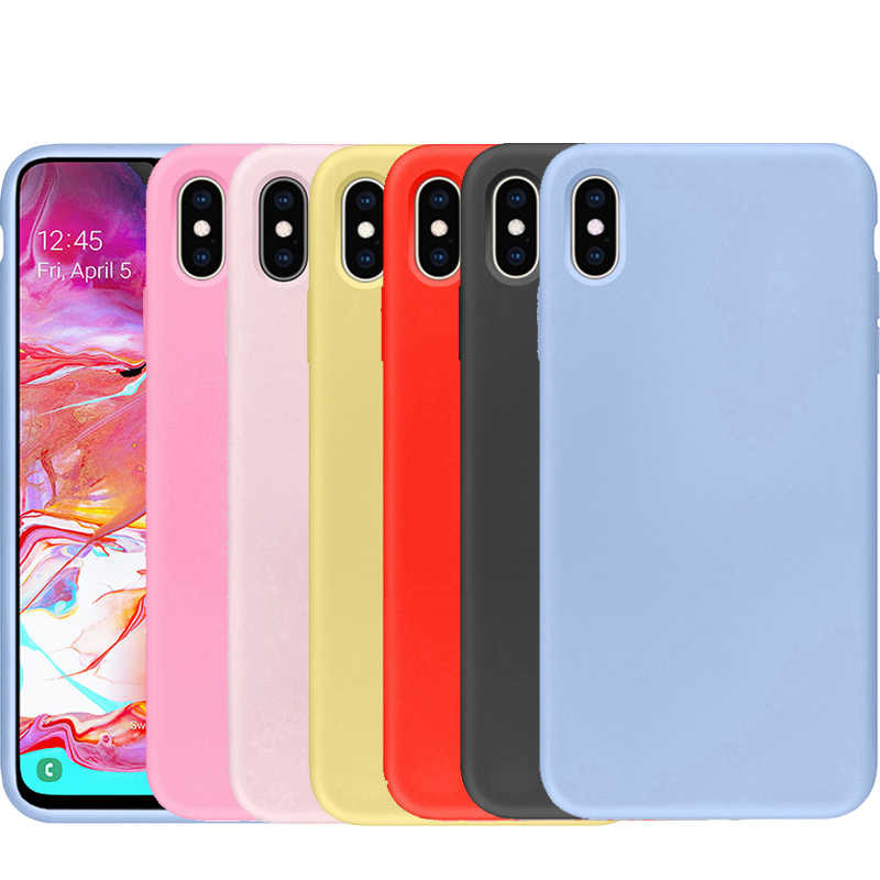 Soft TPU Case Honor 7S 7A 7X 7C 8A 8C 9 10 Lite for Huawei P30 Pro P20 P10 P8 Mate 10 20 30 Lite Candy Matte Silicone Shell