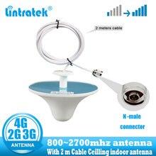 Lintratek 2g 3g 4g комнатная антенна 800~ 2700mhz 3dBi для ретранслятора GSM 3g 4g усилитель сигнала