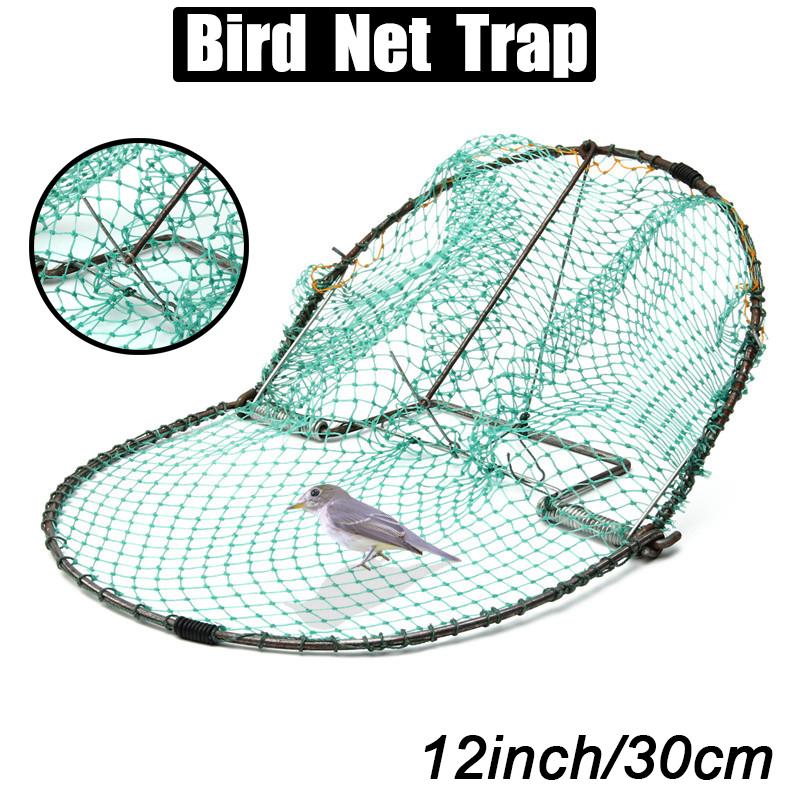 30cm Bird Net Effective Humane Live Trap Hunting Sensitive Quail Humane Trapping Hunting Garden Supplies Pest Control
