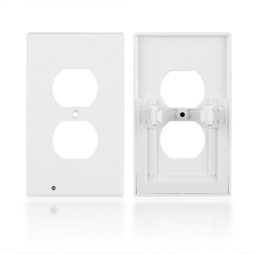 5pcs/lot Led Wall Light Sensor Night Light 110V AC Outlet Duplex Plate Cover With Ambient Light Induction Nightlight Wall Lamp