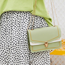 Hot Selling Women PU Leather Shoulder Bag Embroidery Hasp Buckle Chain Crossbody Bags -B5
