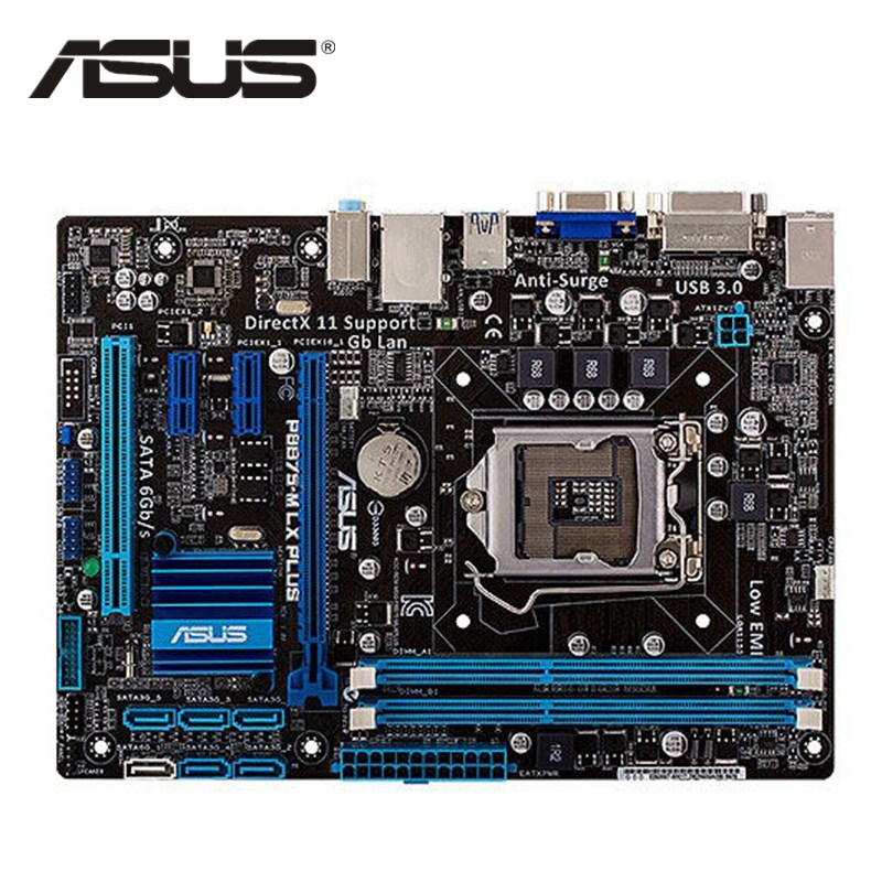 ASUS P8B75-M LX PLUS Original Motherboard DDR3 LGA 1155 USB3.0 SATA3 B75 Used Desktop Motherborad Sales
