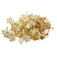 100Pcs Metal Brads Golden Mini Decorative Brads Fasteners Embellishment 14mm