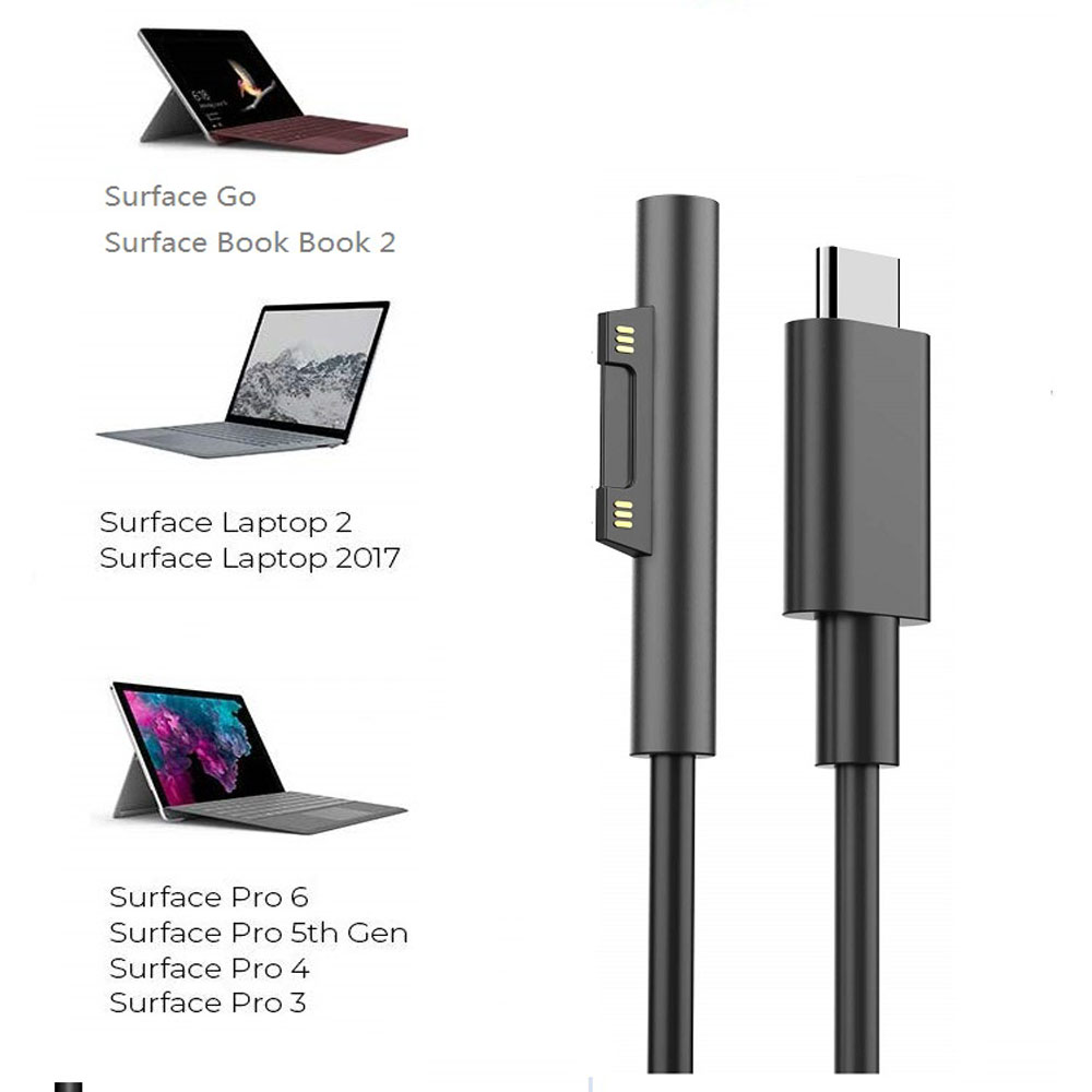 Adapter Charger 44W 15V 2.58A for Microsoft Surface Pro 6 Pro4 Pro3 Pro 5 2017Y