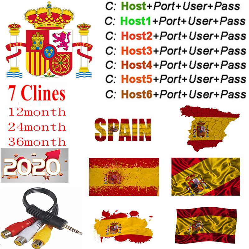 Cccam Europa Server 1 Year Spain Portugal Germany Poland Satellite Tv Receiver 7Clines For DVB-S2 X800 X800S V7  V7s V8 Nova V9