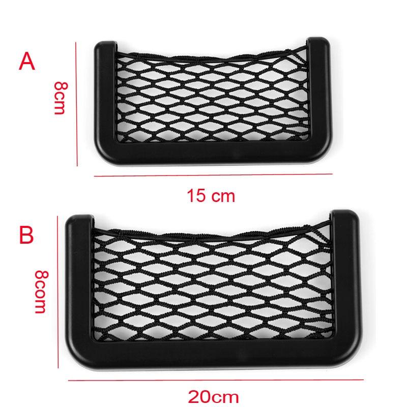 Black Car Net 80x160 cm Storage Organizer Luggage Cargo Mesh Net