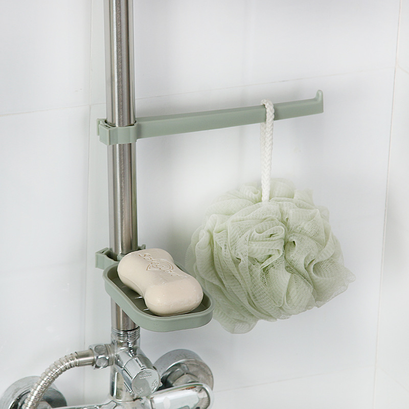 Faucet Clamp Drainage Soap Dish Holder Dishcloth Hanger for Kitchen Bathroom