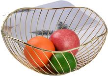 Home Decor żelazny kosz do przechowywania owoców narzędzie dekoracyjne Organizer do domu miska do warzyw przekąski cukierki stół kuchenny jadalnia tanie tanio CN (pochodzenie) Metal