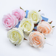 2/5 Pieces Wedding decorative flowers wall christmas decorations for home scrapbooking diy garland silk roses artificial flowers(China)