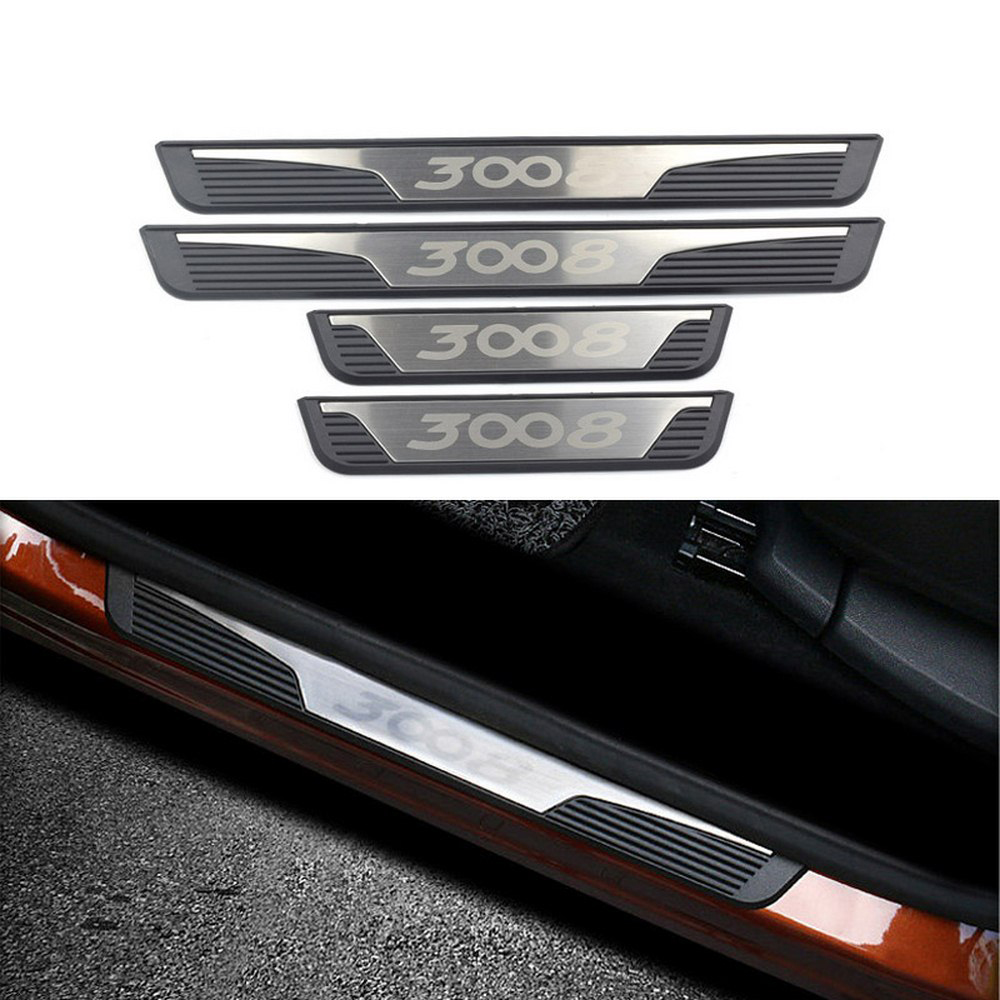 Sill Bar Welcome Pedal External Welcome Pedal Door Sill Threshold Strip Bar For Peugeot 3008