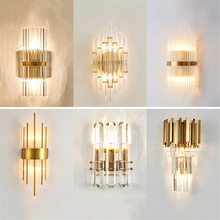 Modern Crystal Wall Lamps Gold Bathroom Bedroom Light Living Room Corridor Wall Lamp Interior Wall Sconce Lamp Light Fixtures fumat wall lamp bedside wall light for bedroom bubble acrylic wall lamp modern art living room light corridor wall sconce gold