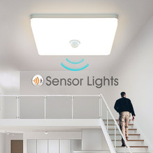 Plafonnier intelligent avec capteur de mouvement PIR, éclairage d'intérieur, idéal pour un couloir ou une chambre, 9/13/18/24/36W