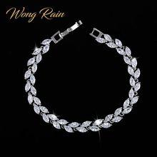 Wong Rain 925 Sterling Silver Created Moissanite Sapphire Ruby Amethyst Gemstone Bangle Charm Bracelets Fine Jewelry Wholesale