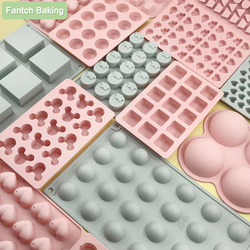 Love Hemisphere Square Silicone Mold For Doughnut Dessert Baking Pan Ice Cream Biscuit Cake Tools DIY Soap Mould Use Steam Oven