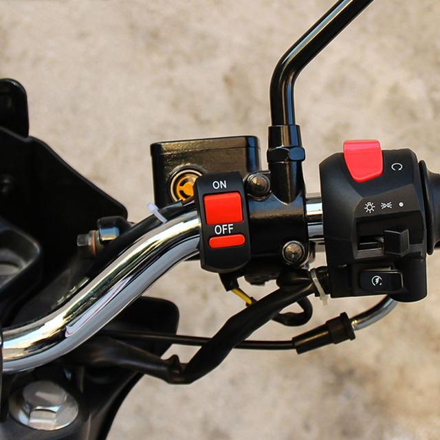 Universal Motorcycle Handlebar Flameout Switch ON OFF Button For BMW Ducati Honda Kawasaki KTM Suzuki Yamaha Gas Gas