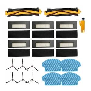 Peças para ecovacs deebot de55 aspirador de pó robótico escova principal + escovas laterais filtro hepa pano mop
