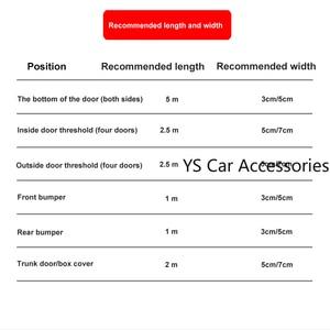 Image 3 - 1 מטר גומי דפוס רצועת גומי לרכב דלת דוושה לקצץ פגוש DIY דלת אדן מגן קצה משמר רכב סטיילינג