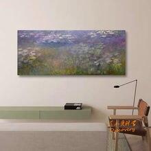 Monet kwiaty malarstwo krajobraz kolor natura Vintage obraz na płótnie Wall Art estetyczne Dekoracje Do Domu wystrój Domu DE50ZST