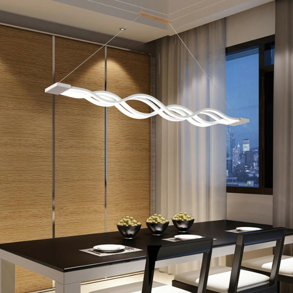 Yonntech 80 واط المطبخ قلادة مصباح موجة تصميم الحديثة غرفة الطعام غرفة الدراسة قلادة ضوء الإنارة بار
