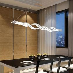 Yonntech 80W lampa do zawieszenia W kuchni Wave design nowoczesna jadalnia gabinet lampa wisząca oprawa oświetleniowa w Wiszące lampki od Lampy i oświetlenie na