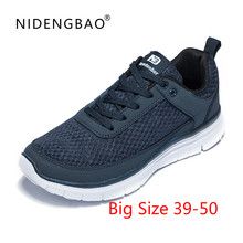 Купить с кэшбэком Hot Sale Running Shoes For Men Sports Shoes Outdoor Walking Jogging Sneakers Male Lace-up Athletic Trainers Zapatillas Size 50