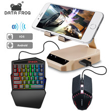 Data Kikker Bluetooth Toetsenbord Muis Converter Stand Pc Adapter Gaming Pubg Mobiele Gamepad Controller Telefoon Houder Voor Android/Ios(China)