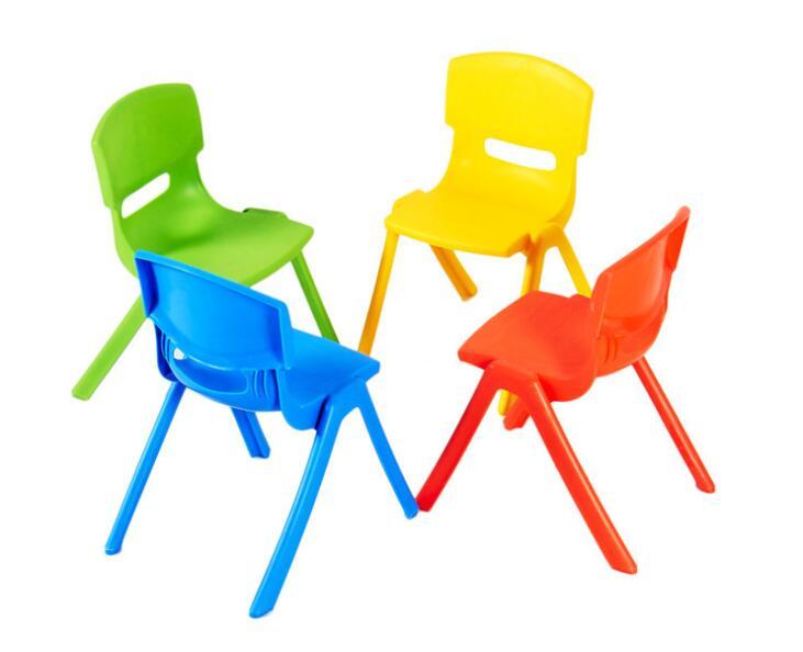 Wholesale 30cm Seat Height Kindergarten Chairs Children Safety Back-rest Chair Thicken Small Stool