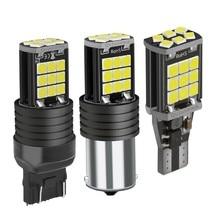Lampe de stop de voiture, clignotant ampoule, feu de marche arrière automatique, 1156 BA15s P21W 1157 BAY15D P21/5 W T20 W21W 7440 W21/5 W 7443 T15 W16W LED, 1 pièce
