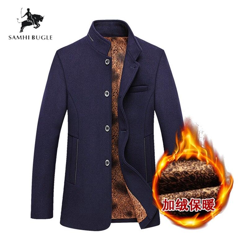 2020 Winter Trench Coat Men Fashion Long Overcoat men Hot Sale Woollen Coat Thick Men's Clothing Size 3XL Wool Jackets