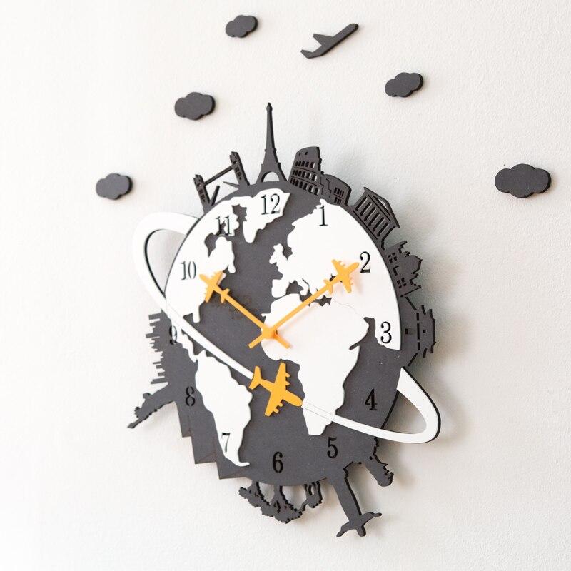 Nordic Wall Clock Living Room Creative American Personality Hanging Performance Generation Silent Clock Home Quartz Clock   - title=