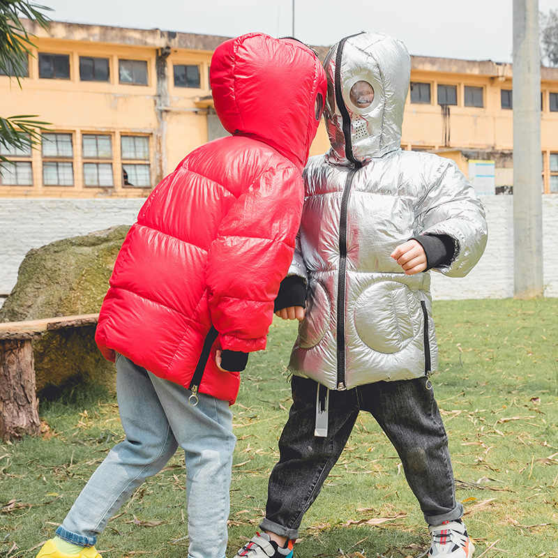 Children's winter coat boys Cartoon monster Jacket Infant Clothes kids parka toddler cotton-padded warm jacket girl snow suit