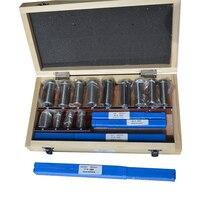22 шт. hss паз шпоночный протяжки набор ключей инструмент втулка комплект прокладок метрическая система 12-30 HSS шпоночный инструмент нож для станка с ЧПУ