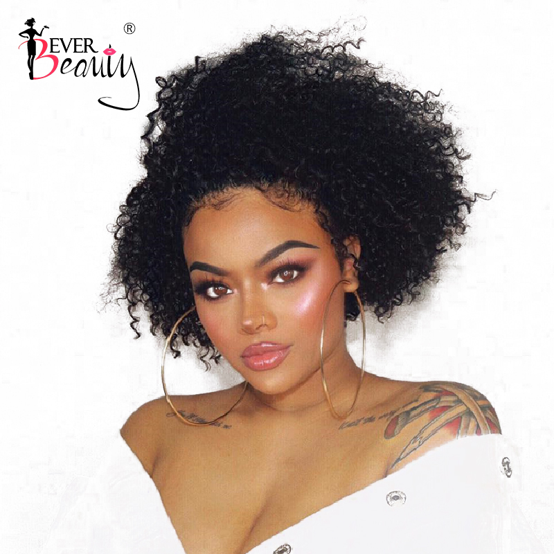 360 Lace Frontal Wig Pre Plucked With Baby Hair Afro Kinky Curly 360 Lace Front Human Hair Wigs Ponytails Brazilian Ever Beauty