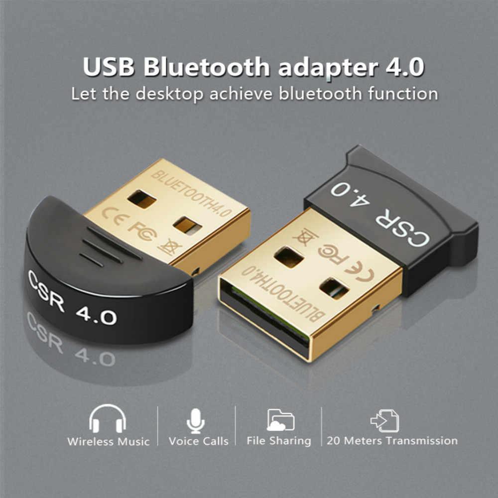 Bezprzewodowy USB Bluetooth 4.0 Adapter wtyczka Bluetooth muzyka dźwięk Adapter odbiornika nadajnik Bluetooth do komputera PC Laptop