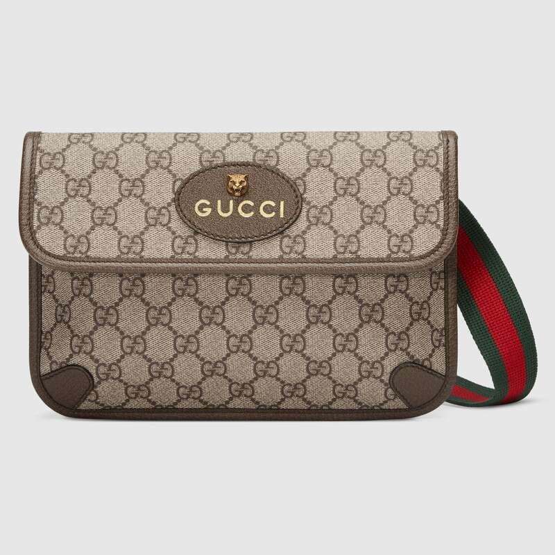 Gucci GG Supreme Belt Bag Waist Bags For Mens Canvas Leisure Chest Phone Pouch Crossbody Bag ‎493930 9C2VT 8745