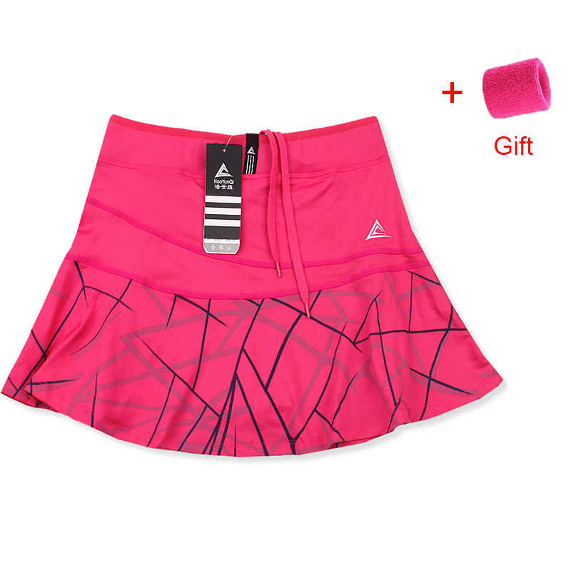 Frauen Sport Tennis Skort Short Badminton Rock mit Sicherheit Shorts Gestreift Tennis Rock