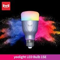 Yeelight-bombilla LED inteligente E27, 6W, RGB, Control remoto por voz, luz regulable, compatible con Google Home, funciona con la aplicación Mija