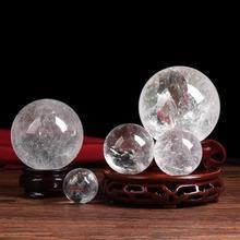 Натуральный кварцевый хрустальный шар минеральные камни лечебная