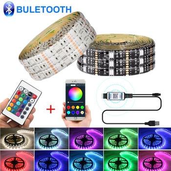 Tira de luces LED de navidad, 5V, USB, RGB, resistente al agua,...