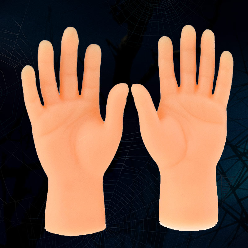 Screepy Halloween Mini Finger Hands Tiny Left Right Hand For Game Party Costume FJ88