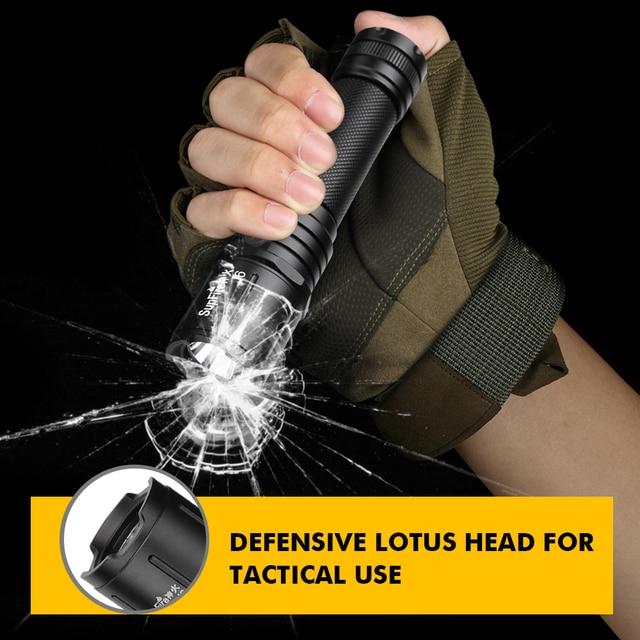 Supfire J6 Military LED Flashlight Glare Self-Defense Torch Light Adventure Camping Searchlight USB Rechargeable Portable Lamp 5