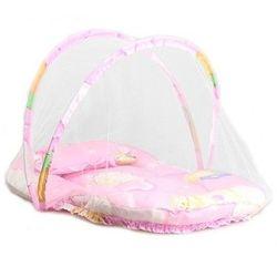 Baldachim do łóżka moskitiera sieć na owady namiot dla niemowląt wygodne niemowlę bezpieczne chroń łóżeczko siatkowe Outdoor Home przenośne składane podróże|Siatki do łóżeczka|   -